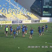 petrolul si dinamo zagreb la antrenamentul oficial pentru partida din europa league