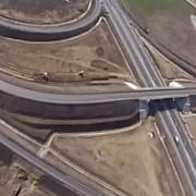 filmare din avion cu lotul 3 din autostrada sibiu-orastie
