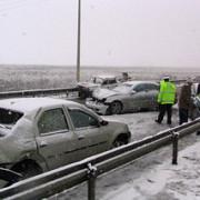 carambol pe autostrada soarelui  10 masini s-au tamponat