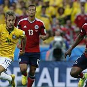 brazilia s-a calificat in semifinale dupa 2-1 cu columbia
