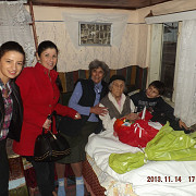 deputatul vlad cosma la aniversarea de 100 de ani a unei doamne din mizil