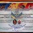 diploma de patriot roman pentru deputatul vlad cosma