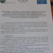 foto document plin de amenintari si de dezinformari trimis de primarul volosevici catre acs petrolul 52