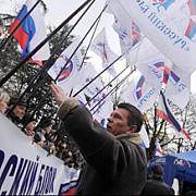 peste 10000 de persoane au iesit pe strazile din donetk pentru a denunta noul regim