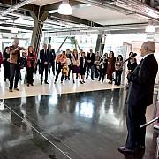 expozitia prahova culturala  romania 100 deschisa la centrul de afaceri multifunctional lumina verde  ploiesti video