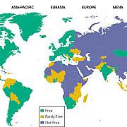 freedom house romania este o democratie semiconsolidata o tara libera cu o presa partial libera