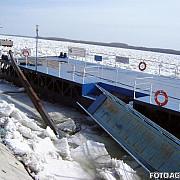 gheata a scufundat o nava  pe dunare