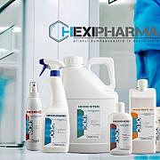 acum cateva zile un jurnalist a filmat flacoane cu dezinfectanti hexi pharma intr-un spital