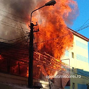 incendiu de proportii la timisoara in complexul studentesc