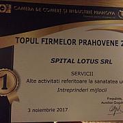 spitalul lotus premiat de cci la  galei topul firmelor prahovene 2017
