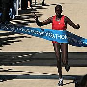 kenyenii hillary kipkogei yego si joan rotich au castigat maratonul de la atena
