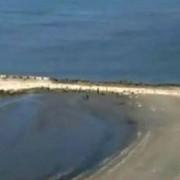 marea neagra s-a retras cu 40 de metri din cauza vantului