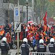 manifestatia sindicatelor europene de la bruxelles marcata de violente