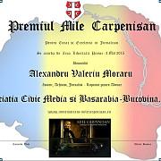 premiul mile carpenisan pentru curaj si excelenta in jurnalism merge in basarabia