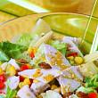 salata verde cu piept de pui si miere de albine