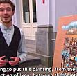 tablou ieftin de la ikea expus intr-un mare muzeu de arta