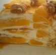 tort de clatite cu portocale si frisca