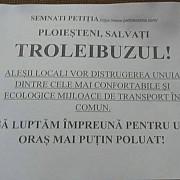 proteste ale angajatilor tce pentru salvarea transportului cu trolee in ploiesti
