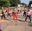 elena udrea a facut aerobic in parcul herastrau