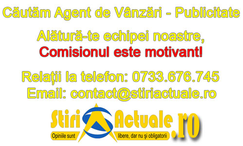 Stiri Actuale angajeaza Agent de Vanzari - Publicitate