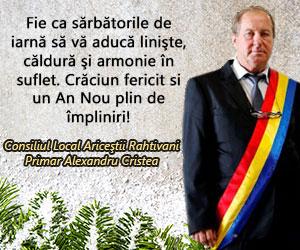 De Ziua Națională a României vă urez tuturor La multi ani! Alexandru CRISTEA, primar Ariceștii Rahtivani