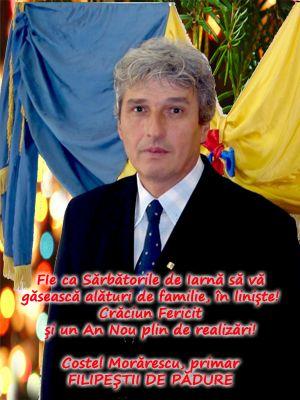 La multi ani, România! La mulți ani, dragi români! Costel Morărescu, primar Filipeștii de Pădure