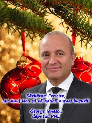 La mulți ani România! La mulți ani tuturor românilor și celor ce simt și gândesc românește! George Ionescu, deputat PNL