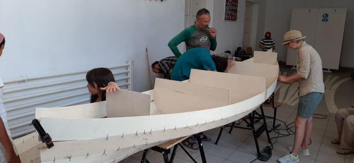foto video vizita la atelierul de canotci de la sulina